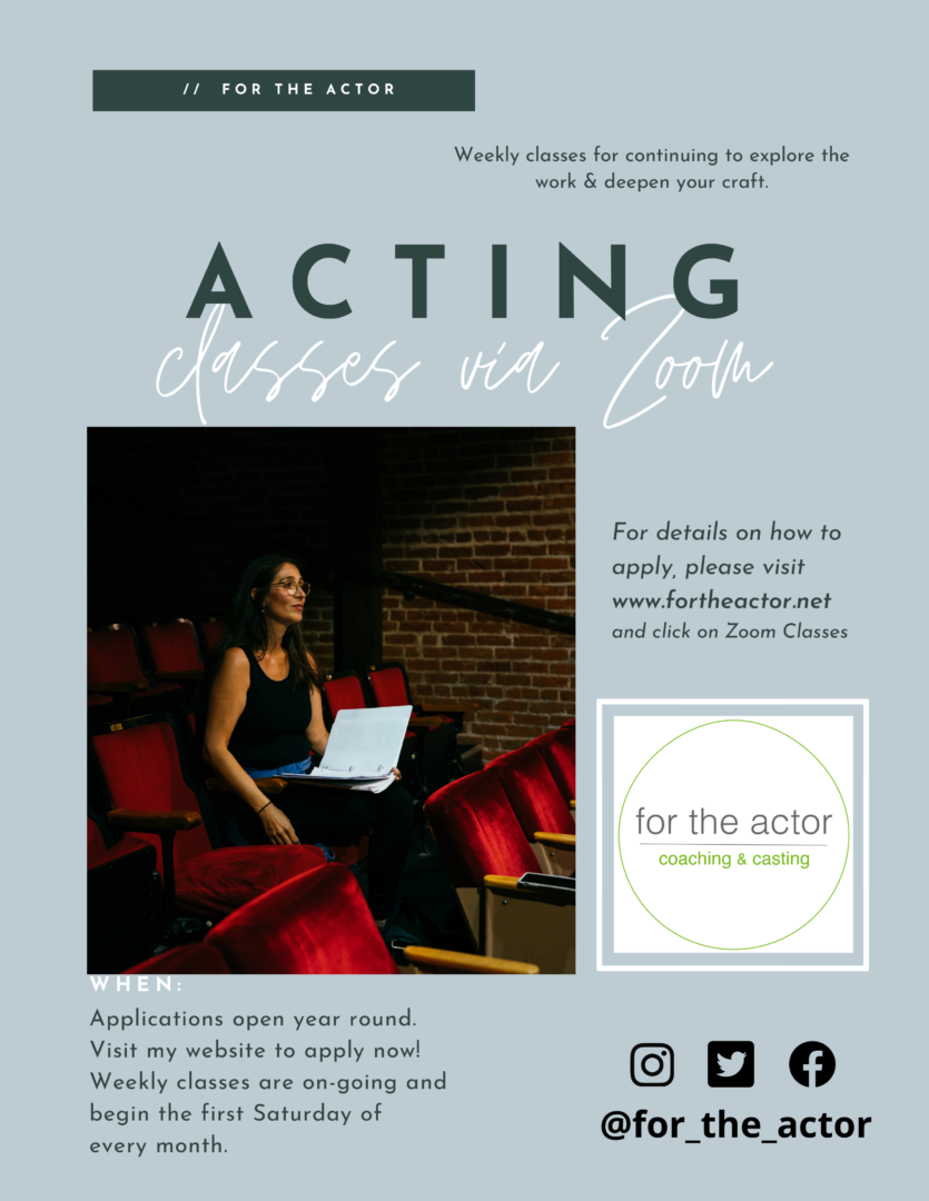 Open enrollments flyer FOR THE ACTOR
